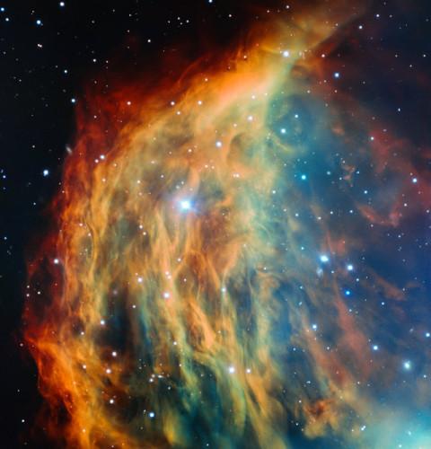 Immagine della Nebulosa Medusa ottenuta usando il telescopio VLT (Immagine ESO)