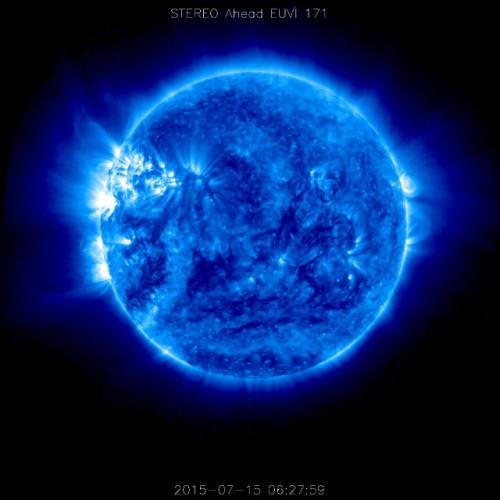 Fotografia del Sole scattata dalla sonda spaziale STEREO-A (Foto NASA/STEREO)