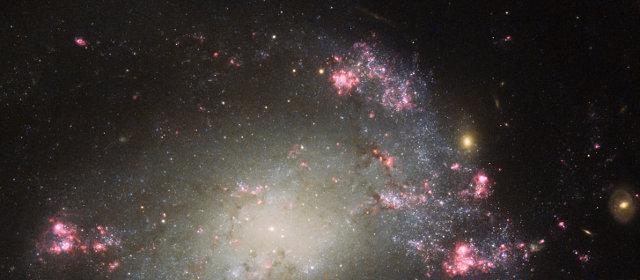Fotografia della galassia NGC 428 scattata dal telescopio spaziale Hubble (Foto ESA/Hubble and NASA and S. Smartt (Queen's University Belfast))