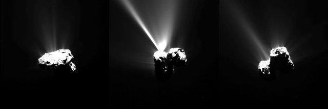 Immagini della cometa 67P/Churyumov–Gerasimenko mentre si sta avvicinando al perielio (Foto ESA/Rosetta/MPS for OSIRIS Team MPS/UPD/LAM/IAA/SSO/INTA/UPM/DASP/IDA)