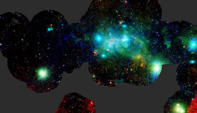 Vista ai raggi X dell'area centrale della Via Lattea (Immagine ESA/XMM-Newton/G. Ponti et al. 2015)