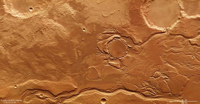 Fotografia della Mangala Valles su Marte scattata dalla sonda spaziale Mars Express (Foto ESA/DLR/FU Berlin)
