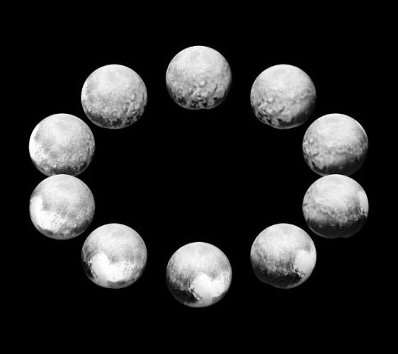 Varie immagini della superficie del pianeta nano Plutone (ImmagineNASA/JHUAPL/SwRI)