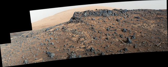 L'area di Garden City vista dal Mars Rover Curiosity (Immagine NASA/JPL-Caltech/MSSS)