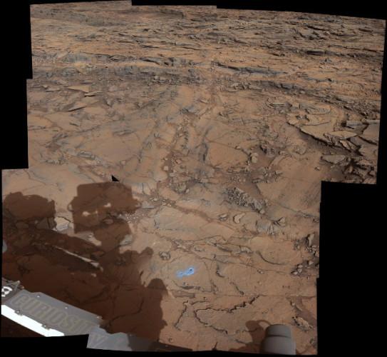 """L'area chiamata """"Bridger Basin"""" che include gli obiettivi della ricerca del Mars Rover Curiosity chiamati """"Big Sky"""" e """"Greenhorn"""" (Immagine NASA/JPL-Caltech/MSSS)"""
