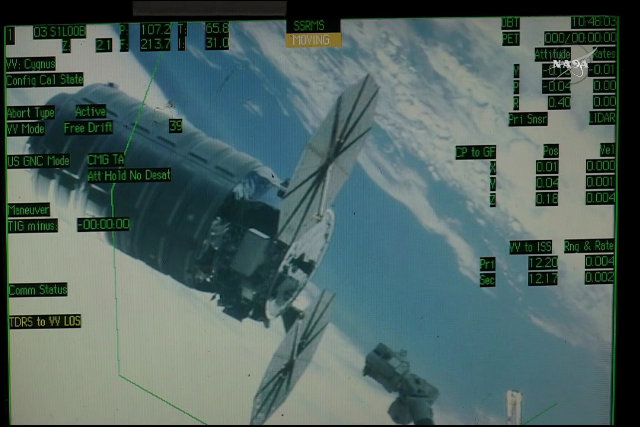 La navicella spaziale Cygnus