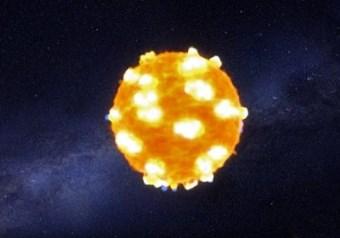 L'onda d'urto che erompe dalla superficie di una stella (Immagine NASA)