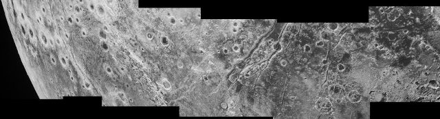 Faglie sulla superficie di Plutone (Immagine NASA/JHUAPL/SwRI)