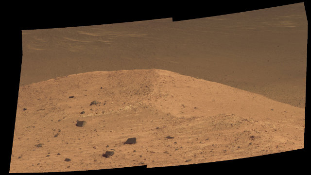 Spirit Mound, vicino al confine orientale di Bitterroot Valley (Immagine NASA/JPL-Caltech/Cornell/Arizona State Univ.)