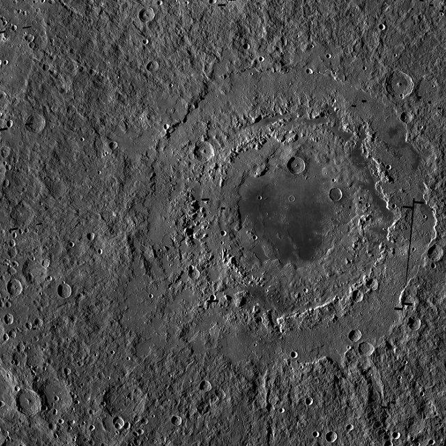 Il Mare Orientale visto dal Lunar Reconnaissance Orbiter (Foto NASA/GSFC/Arizona State University)