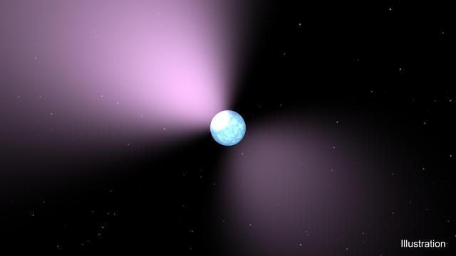 Concetto artistico di pulsar (Immagine NASA/JPL-Caltech)