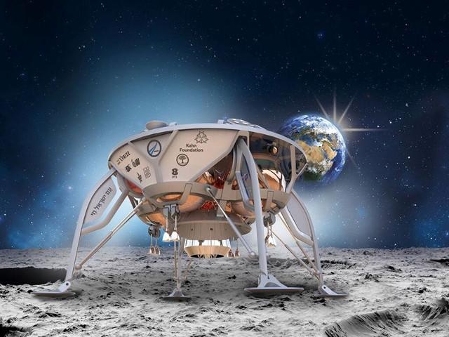 Il lander di SpaceIL (Immagine cortesia SpaceIL)