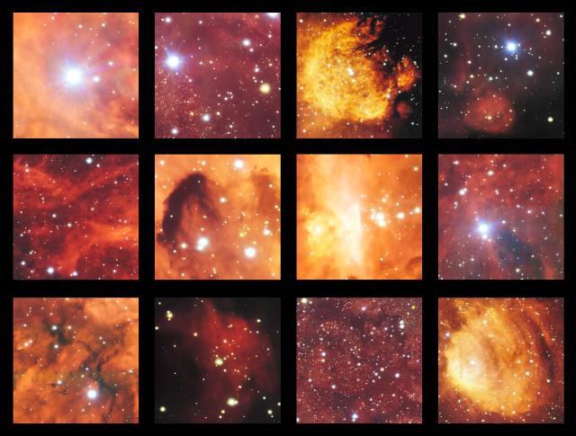 Dettagli di NGC 6334 e NGC 6357 (Immagine ESO)