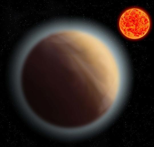 Concetto artistico del pianeta GJ 1132b e della sua stella (Immagine cortesia MPIA)