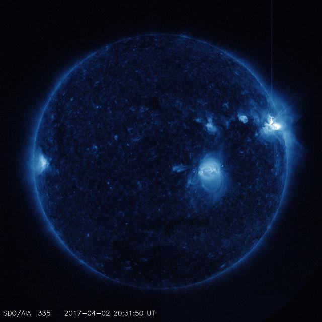 Foto del Sole in occasione del picco del secondo brillamento (Foto NASA/SDO)