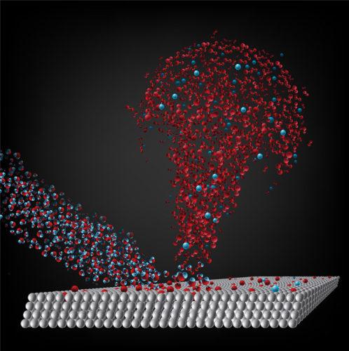 Schema del processo di produzione abiotica di ossigeno molecolare (Immagine cortesia Caltech)