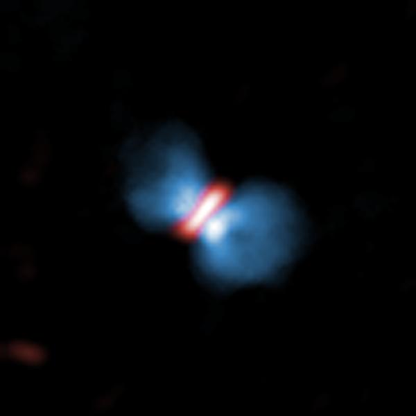 Orion KL Source I vista da ALMA (Immagine ALMA (ESO/NAOJ/NRAO), Hirota et al.)