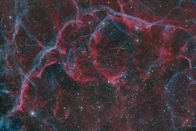 Sezione nord della Nebulosa delle Vele