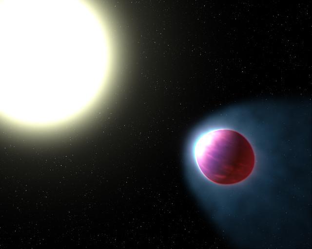 Rappresentazione artistica di WASP-121b (Immagine NASA, ESA, and G. Bacon (STSci))