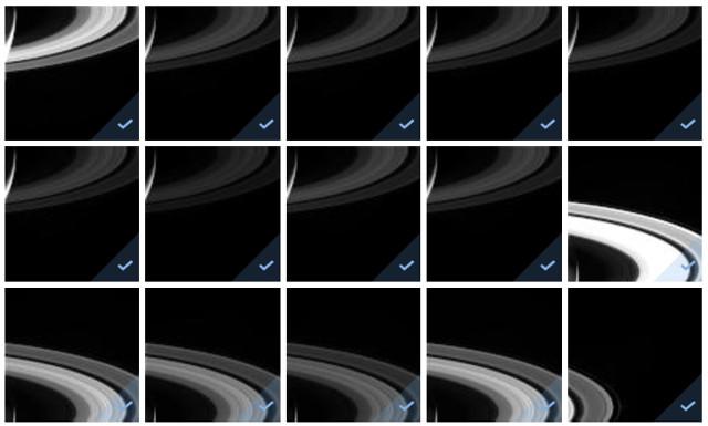 Le ultime foto degli anelli di Saturno scattate dalla sonda spaziale Cassini (Immagine NASA/JPL)