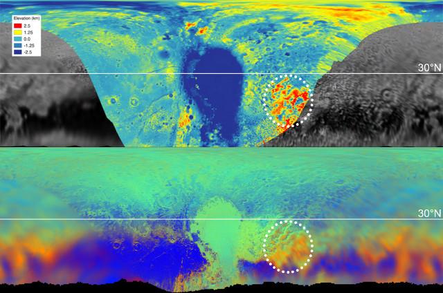 Mappe di Plutone (Immagine NASA/JHUAPL/SwRI/LPI)