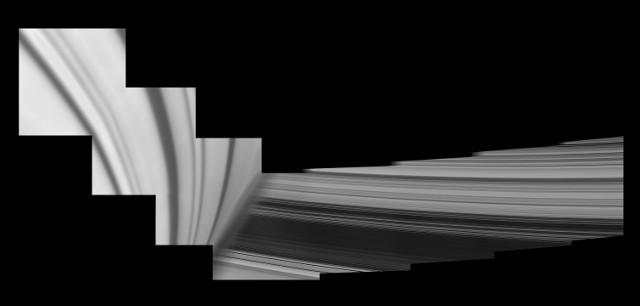 Particolari degli anelli di Saturno (Immagine NASA/JPL-Caltech/Space Science Institute)
