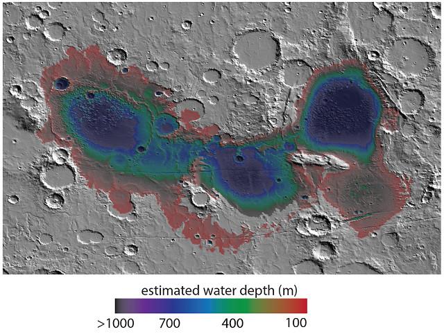 Il bacino di Eridania (Immagine NASA)
