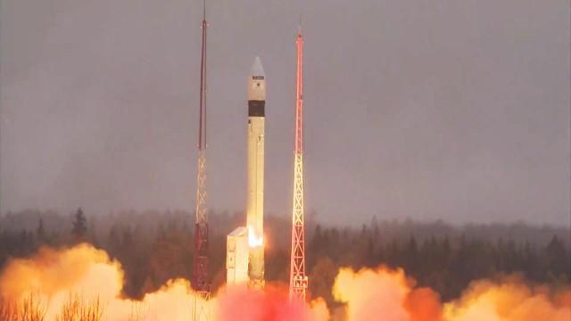 Il satellite Sentinel-5P al decollo su un razzo vettore Rockot (Foto ESA)