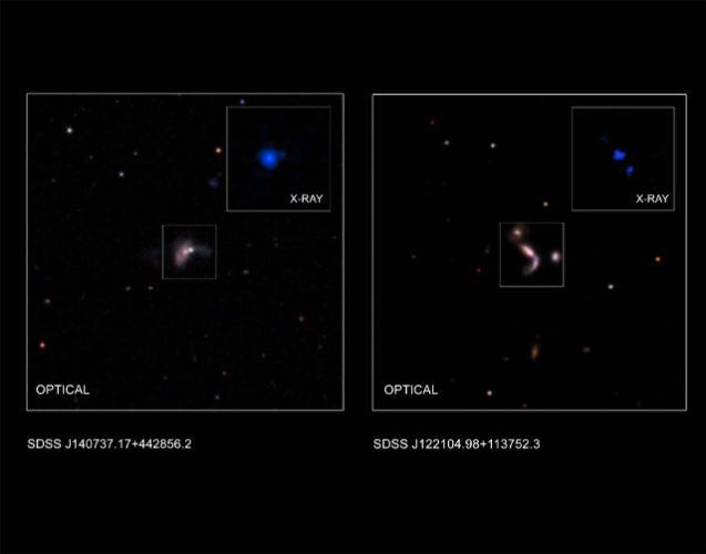 Una delle possibili coppie di buchi neri supermassicci