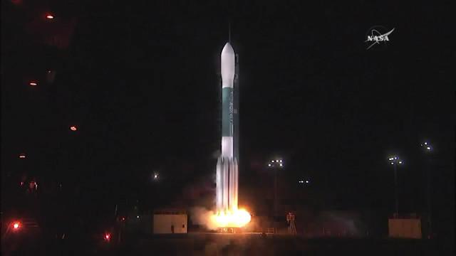 Il satellite JPSS-1 al decollo su un razzo Delta 2 (Immagine NASA TV)