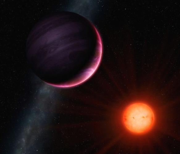 Rappresentazione artistica del pianeta NGTS-1b e della sua stella (Immagine University of Warwick/Mark Garlick)