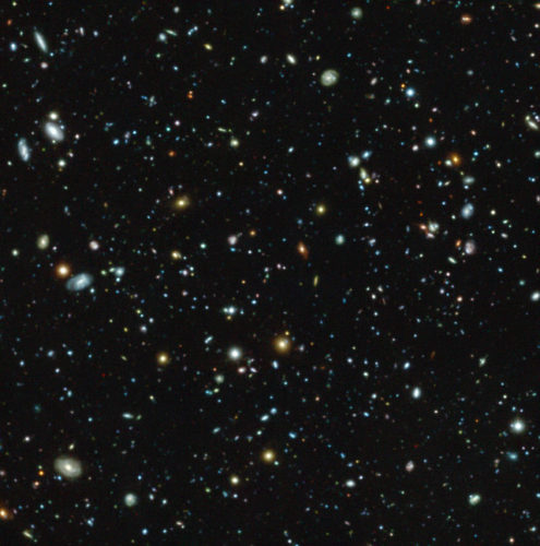 La regione del campo ultra-profondo di Hubble vista da MUSE (Immagine ESO/MUSE HUDF collaboration)