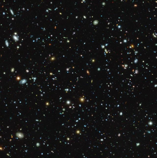 La regione del campo ultra-profondo di Hubble vista da MUSE (Immagine ESO/MUSE HUDF collaboration)