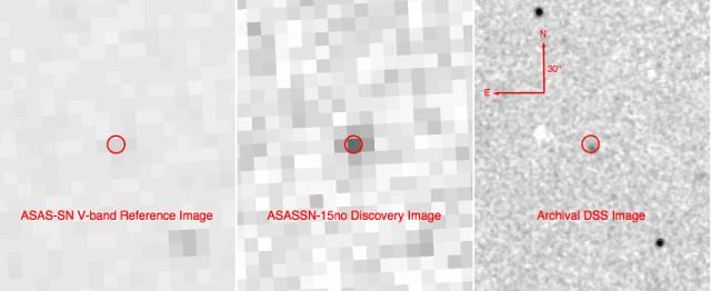 ASASSN-15no (Immagine cortesia ASAS-SN / DSS)