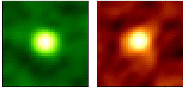 Emissioni rilevate in WISE1029 (Immagine ALMA (ESO/NAOJ/NRAO), Toba et al.)