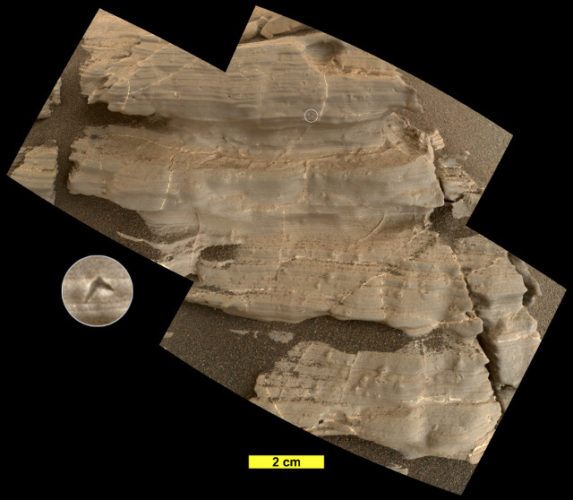 La roccia Jura (Immagine NASA/JPL-Caltech/MSSS)