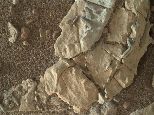 La roccia Haroldswick (Immagine NASA/JPL-Caltech/MSSS)