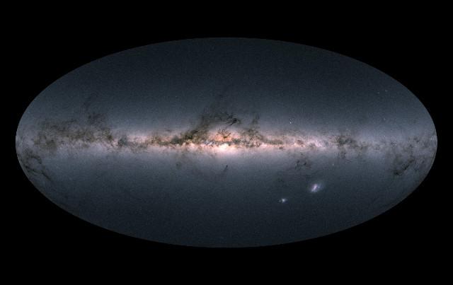 Il cielo di Gaia nella DR2 (Immagine ESA/Gaia/DPAC)