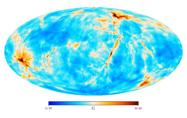 Mappa del campo magnetico (Immagine cortesia MPI for Astrophysics)