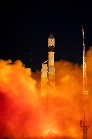 Il satellite Sentinel-3B al decollo su un razzo vettore Rockot (Foto ESA - S. Corvaja)