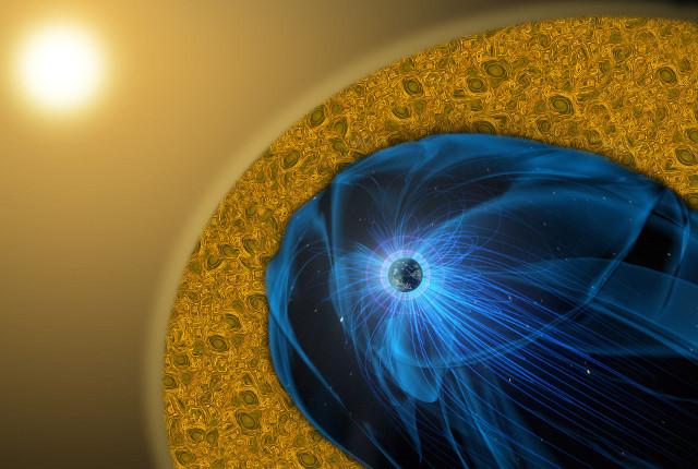 Schema della riconnessione magnetica elettronica