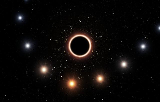 Impressione artistica di Sagittarius A* ed S2
