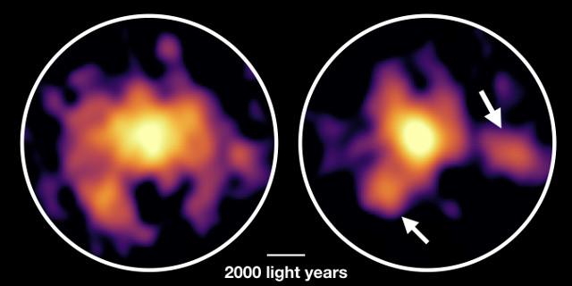 Un'antichissima galassia con un forsennato ritmo di formazione stellare