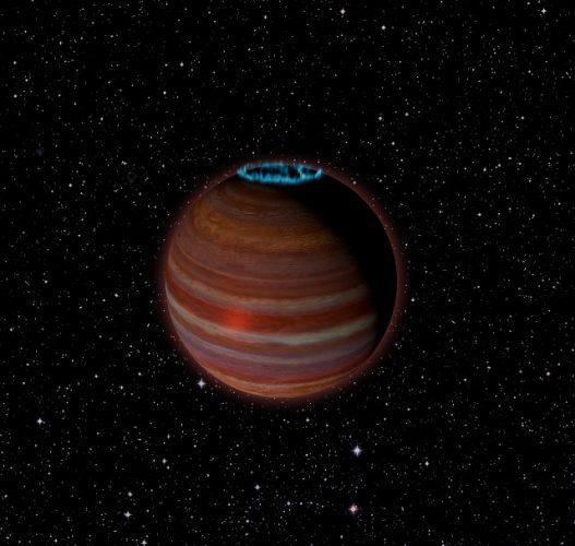 Concetto artistico di SIMP J01365663+0933473 (Immagine Caltech/Chuck Carter; NRAO/AUI/NSF)