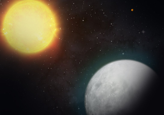 Concetto artistico del pianeta HD 39091c con la sua stella (Immagine NASA/MIT)
