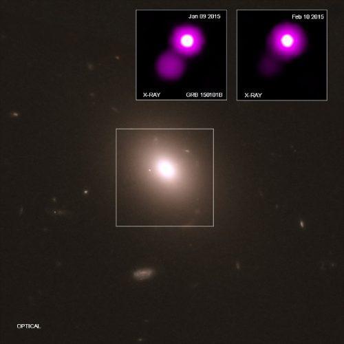 Un lampo gamma del 2015 mostra molte similitudini con una fusione di stelle di neutroni