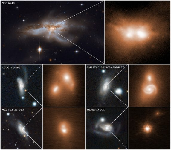 Fusioni galattiche rivelano coppie di buchi neri supermassicci