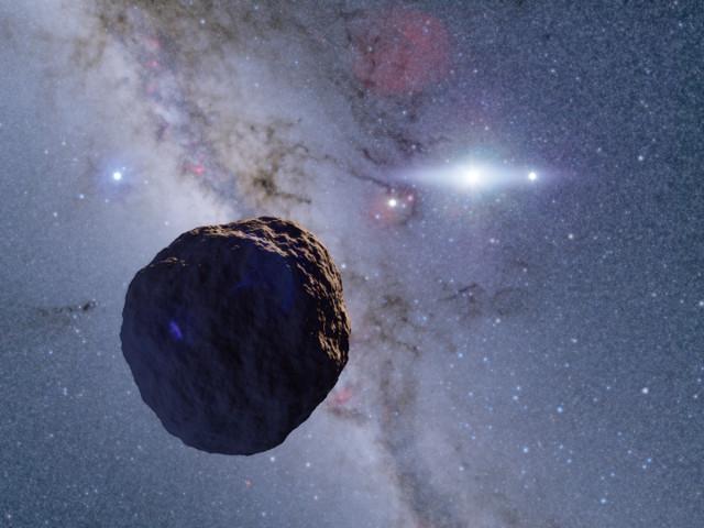 Rappresentazione artistica di un planetesimo (Immagine cortesia Ko Arimatsu / NAOJ)