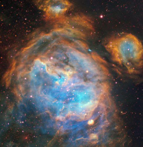 Una stella nascente in una bolla gigante nella Grande Nube di Magellano