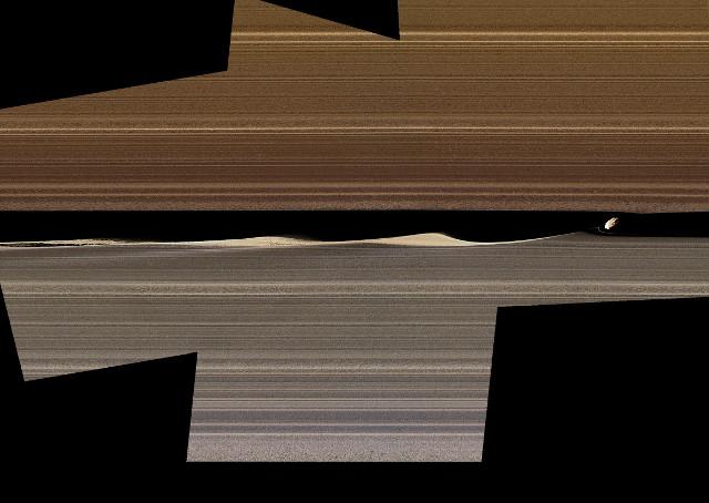 Gli anelli di Saturno scolpiti dalle lune vicine